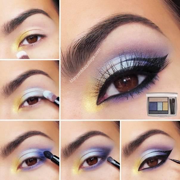 Nice makeup for brown